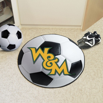 "27"" College of William & Mary Soccer Ball Round Mat"