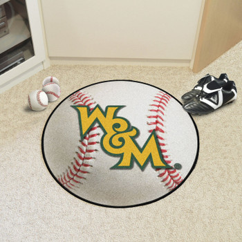 "27"" College of William & Mary Baseball Style Round Mat"