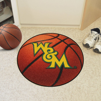 "27"" College of William & Mary Basketball Style Round Mat"