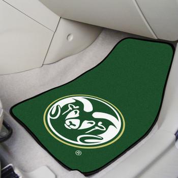 Colorado State University Green Carpet Car Mat, Set of 2