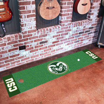 "18"" x 72"" Colorado State University Putting Green Runner Mat"
