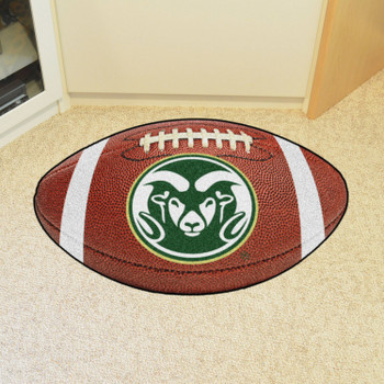 "20.5"" x 32.5"" Colorado State University Rams Football Shape Mat"