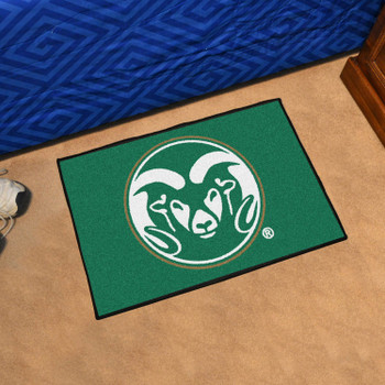 "19"" x 30"" Colorado State University Green Rectangle Starter Mat"