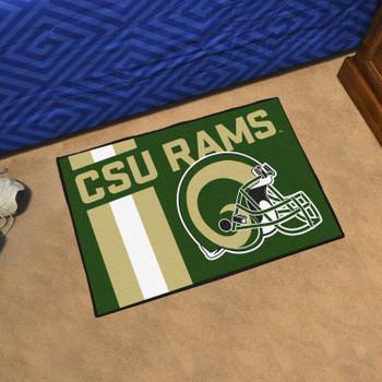 "19"" x 30"" Colorado State University Uniform Green Rectangle Starter Mat"