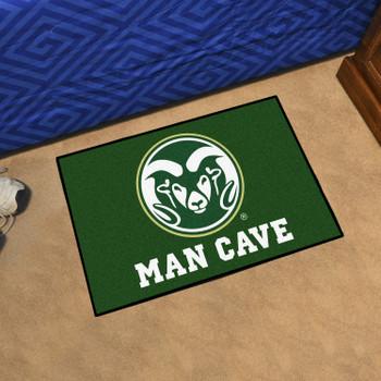 "19"" x 30"" Colorado State University Man Cave Starter Green Rectangle Mat"