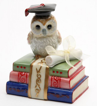 Degree of Wisdom Owl Bird Musical Music Box Sculpture