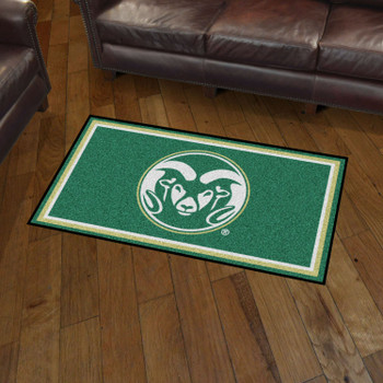 3' x 5' Colorado State University Green Rectangle Rug