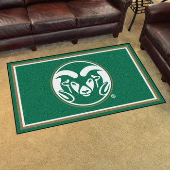 4' x 6' Colorado State University Green Rectangle Rug