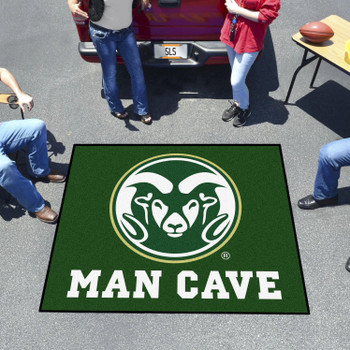 "59.5"" x 71"" Colorado State University Man Cave Tailgater Green Rectangle Mat"
