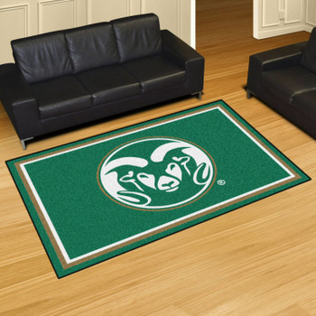 5' x 8' Colorado State University Green Rectangle Rug