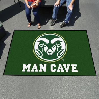 "59.5"" x 94.5"" Colorado State University Man Cave Green Rectangle Ulti Mat"