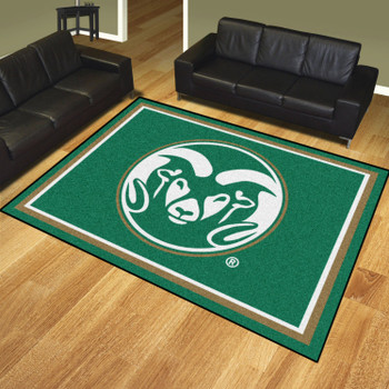8' x 10' Colorado State University Green Rectangle Rug