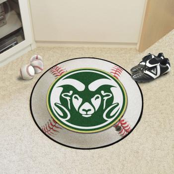 """27"""" Colorado State University Baseball Style Round Mat"""