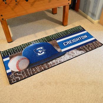 "30"" x 72"" Creighton Baseball Style Rectangle Runner Mat"