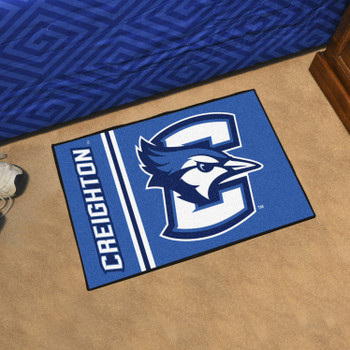 "19"" x 30"" Creighton University Uniform Blue Rectangle Starter Mat"