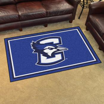4' x 6' Creighton University Blue Rectangle Rug