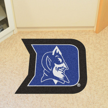 "Duke University Mascot Mat - ""D & Devil"" Logo"