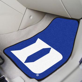 Duke University Blue Devils Carpet Car Mat, Set of 2