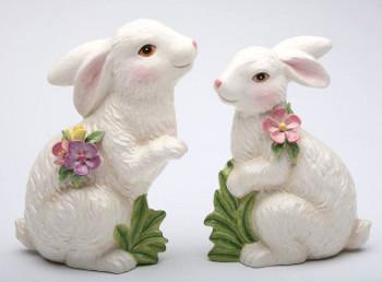 Bunny Rabbit Porcelain Sculptures, Set of 2