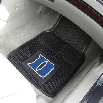 Duke University Heavy Duty Vinyl Front Black Car Mat, Set of 2