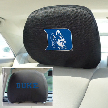 Duke University Car Headrest Cover, Set of 2