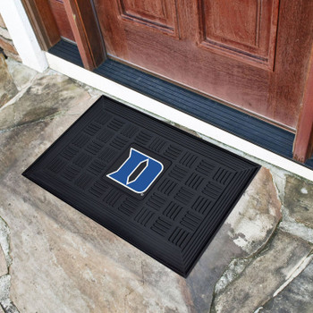 "19.5"" x 31.25"" Duke University Medallion Rectangle Door Mat"