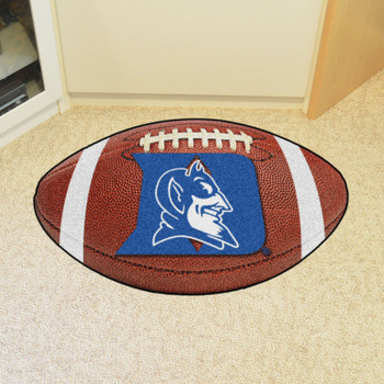"20.5"" x 32.5"" Duke University Blue Devils Football Shape Mat"