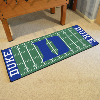 "30"" x 72"" Duke University Football Field Rectangle Runner Mat"