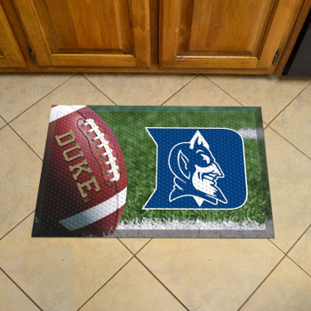 "19"" x 30"" Duke University Rectangle Scraper Mat - ""D & Devil"" Logo"
