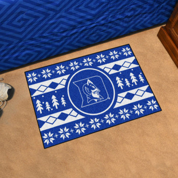 "19"" x 30"" Duke University Holiday Sweater Blue Rectangle Starter Mat"