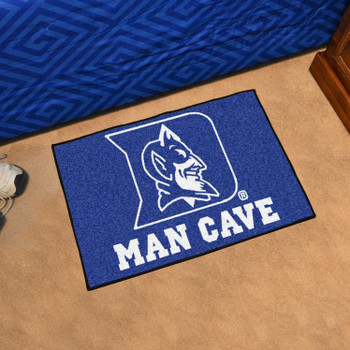 "19"" x 30"" Duke University Blue Devils Man Cave Starter Rectangle Mat"