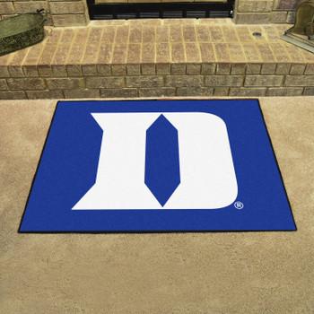 """33.75"""" x 42.5"""" Duke University All Star Blue Rectangle Mat"""