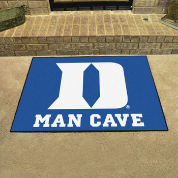 "33.75"" x 42.5"" Duke University Blue Man Cave All-Star Rectangle Mat"