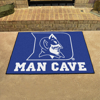 "33.75"" x 42.5"" Duke University Blue Devils Man Cave All-Star Rectangle Mat"