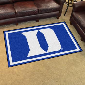 4' x 6' Duke University Blue Rectangle Rug