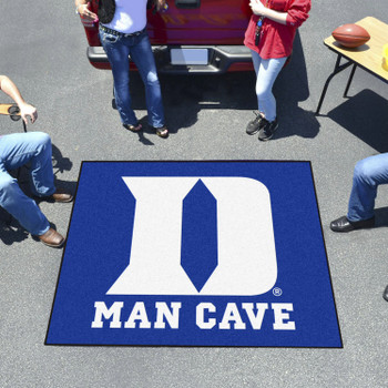 "59.5"" x 71"" Duke University Blue Man Cave Tailgater Rectangle Mat"