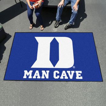 "59.5"" x 94.5"" Duke University Blue Man Cave Rectangle Ulti Mat"