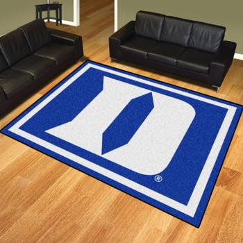 8' x 10' Duke University Blue Rectangle Rug