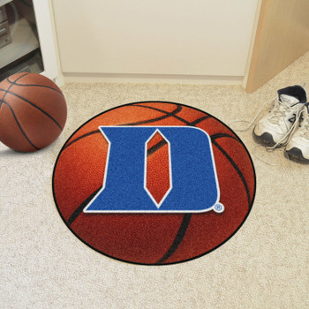 "27"" Duke University Orange Basketball Style Round Mat"