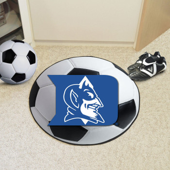 "27"" Duke University Blue Devils Soccer Ball Round Mat"