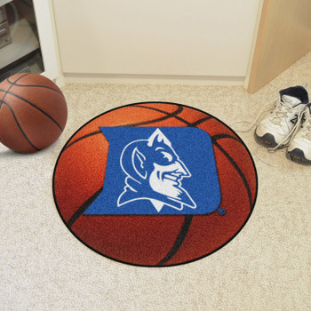 "27"" Duke University Blue Devils Orange Basketball Style Round Mat"