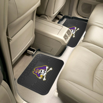 East Carolina University Heavy Duty Vinyl Car Utility Mats, Set of 2
