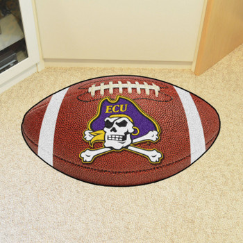 "20.5"" x 32.5"" East Carolina University Football Shape Mat"