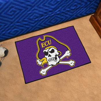 "19"" x 30"" East Carolina University Purple Rectangle Starter Mat"