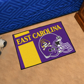 "19"" x 30"" East Carolina University Uniform Purple Rectangle Starter Mat"