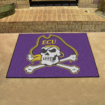 "33.75"" x 42.5"" East Carolina University All Star Purple Rectangle Mat"