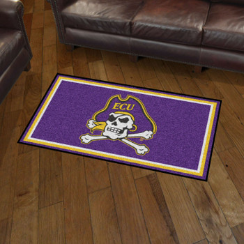 3' x 5' East Carolina University Purple Rectangle Rug