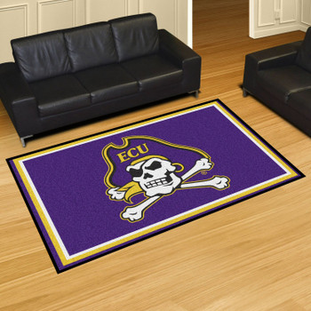 5' x 8' East Carolina University Purple Rectangle Rug