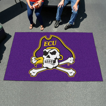 "59.5"" x 94.5"" East Carolina University Purple Rectangle Ulti Mat"