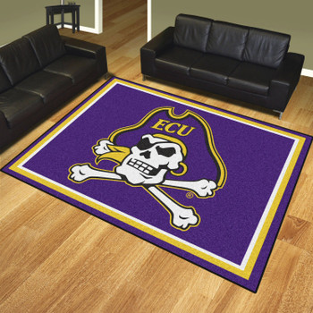 8' x 10' East Carolina University Purple Rectangle Rug
